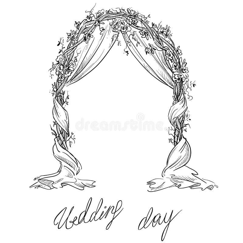 Hochzeitsbogen dekoration ENV 10 stock abbildung
