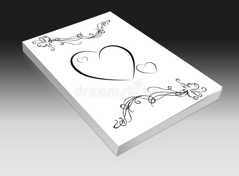 Hochzeitsbuch lizenzfreie abbildung
