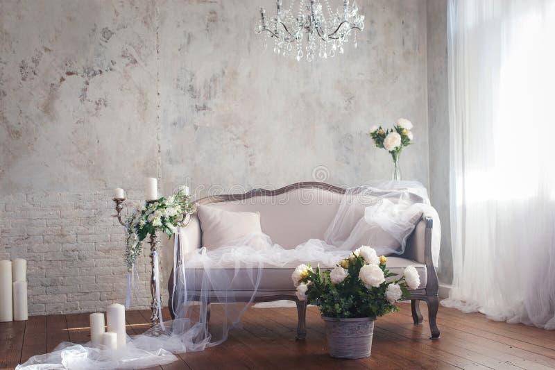 Hochzeitsdekor-Innenraumart lizenzfreie stockfotografie