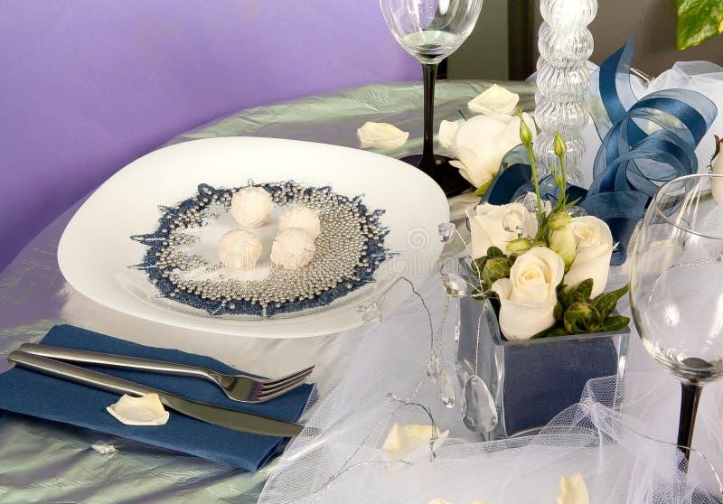 Hochzeitsdekorationen stockbild