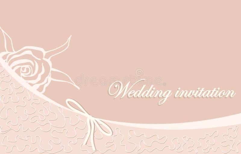Hochzeitseinladung vektor abbildung
