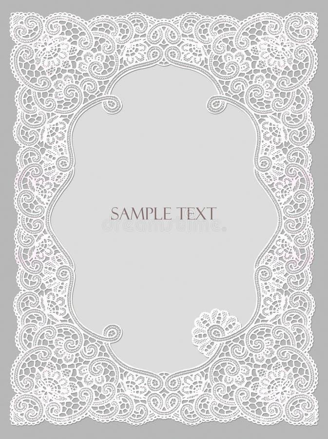 Hochzeitseinladung, gestalten lace-like lizenzfreie abbildung