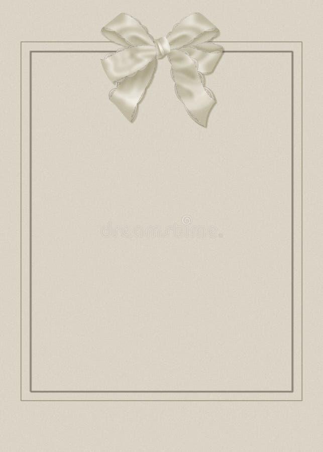 Hochzeitseinladung mit Bogen stock abbildung