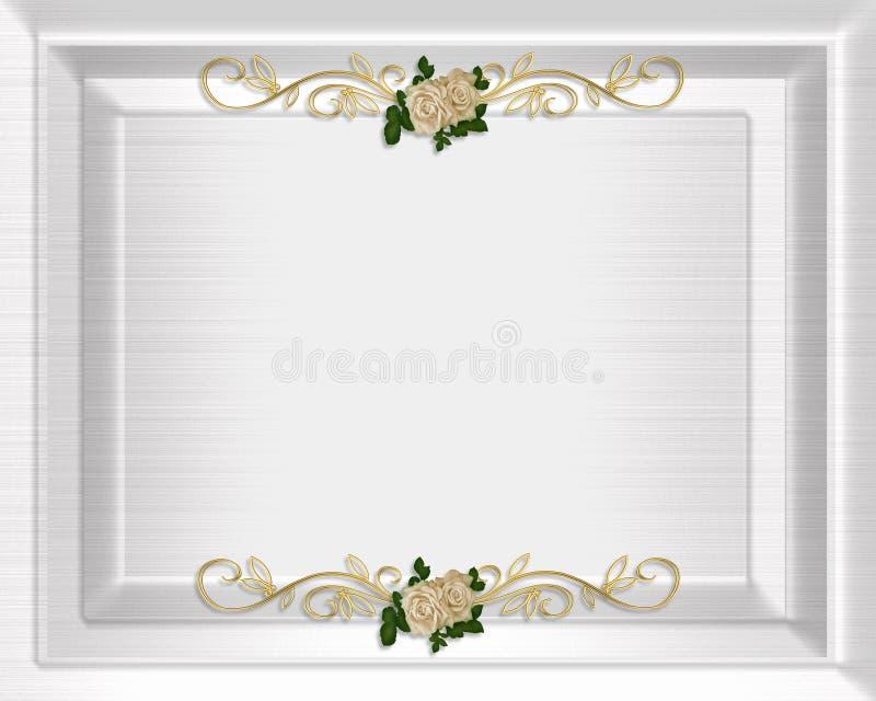 Hochzeitseinladungs-Schablonensatin lizenzfreie abbildung