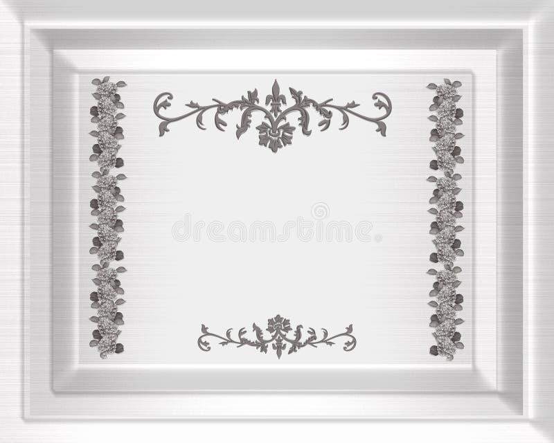 Hochzeitseinladungs-Schablonensatin vektor abbildung