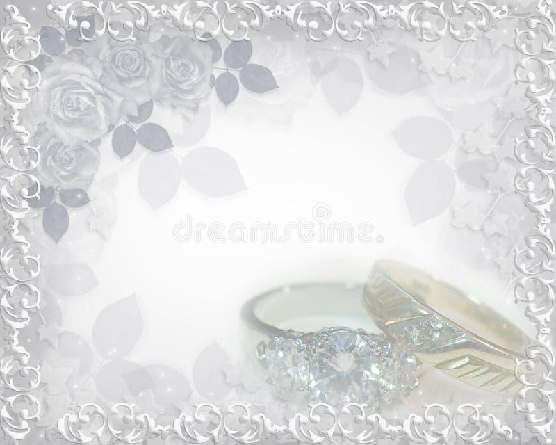 Hochzeitseinladungsringe vektor abbildung
