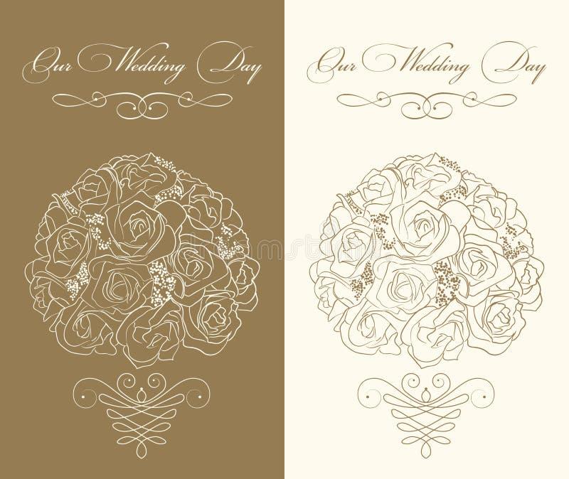 Hochzeitseinladungsschablone lizenzfreie abbildung