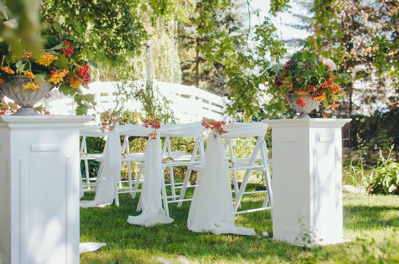 Hochzeitseinrichtung E r lizenzfreie stockfotografie