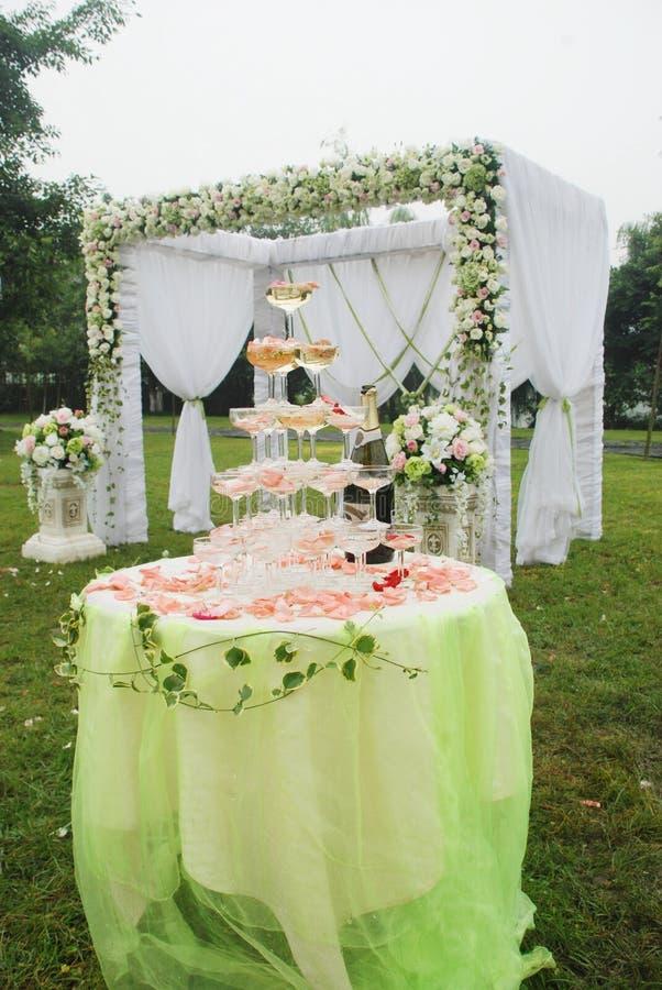 Hochzeitsempfangüberblick lizenzfreie stockfotos