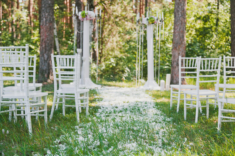 Hochzeitsempfangüberblick lizenzfreies stockbild