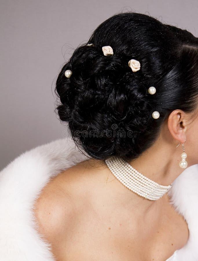 Hochzeitsfrisur lizenzfreie stockbilder