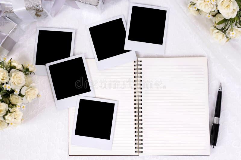 Hochzeitsgeschenke und -fotos stockfoto