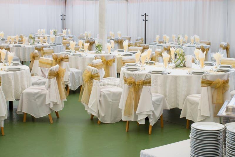 Hochzeitshalle stockbild