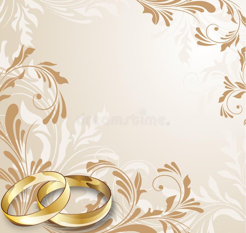 Hochzeitskarte stock abbildung