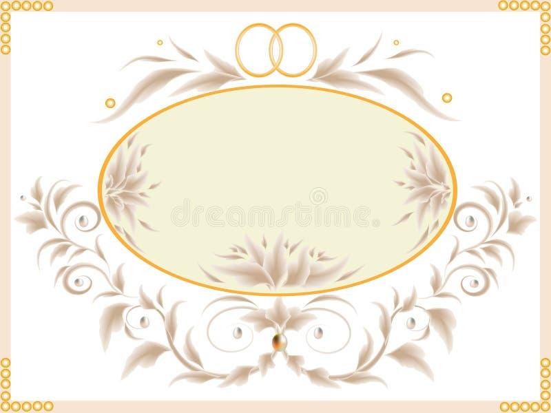 Download Hochzeitskarte vektor abbildung. Illustration von dekoration - 9096957