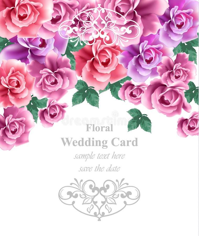 Hochzeitskarten-Vektorschablone Grußkarte Oder ...