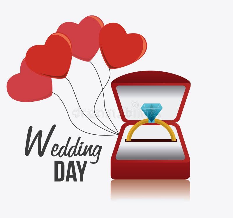 Hochzeitskartendesign lizenzfreie abbildung