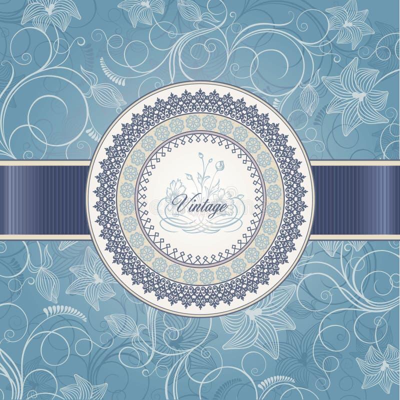 Hochzeitskartenschablone lizenzfreie abbildung