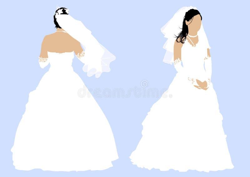 Hochzeitskleid vektor abbildung. Illustration von baumuster - 13284037
