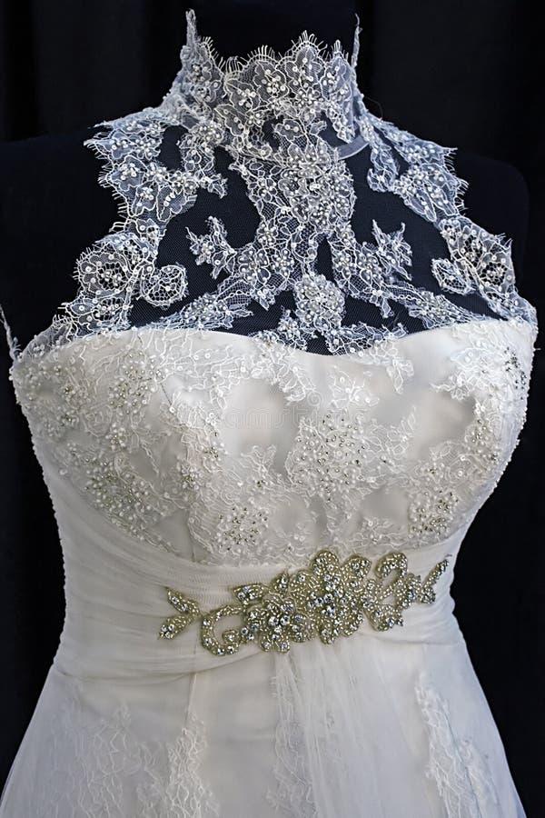 Hochzeitskleid. Detail-25 Stockfotografie