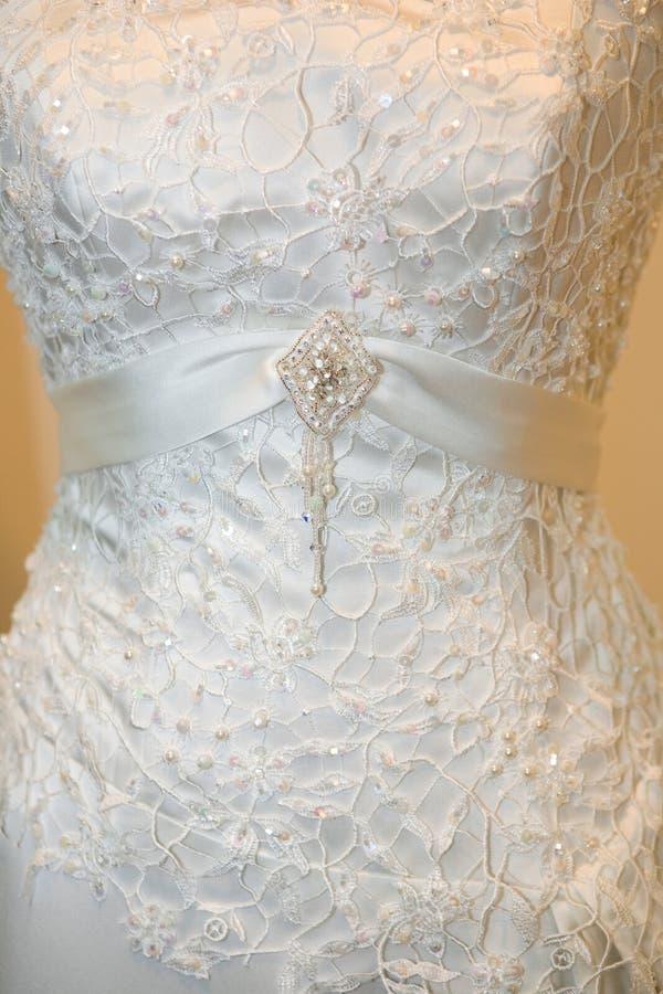 Hochzeitskleiddetail lizenzfreies stockbild