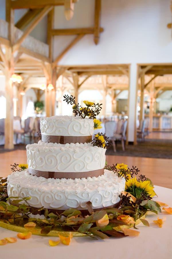 Hochzeitskuchen mit Lots Sonderkommandos stockfoto