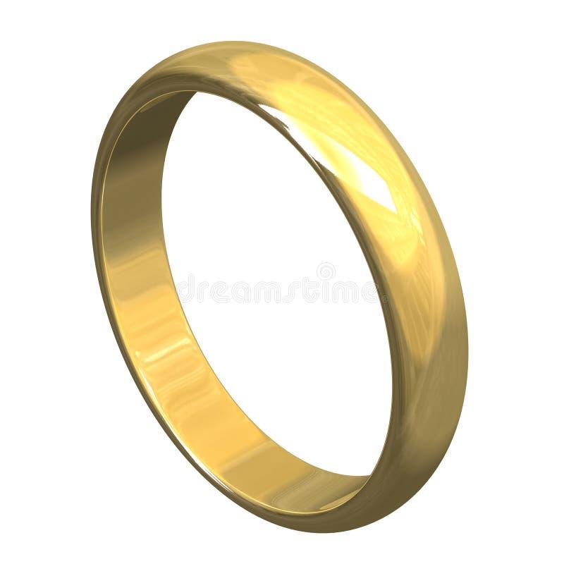 Hochzeitsring Im Gold 3D V3 Stockfotos