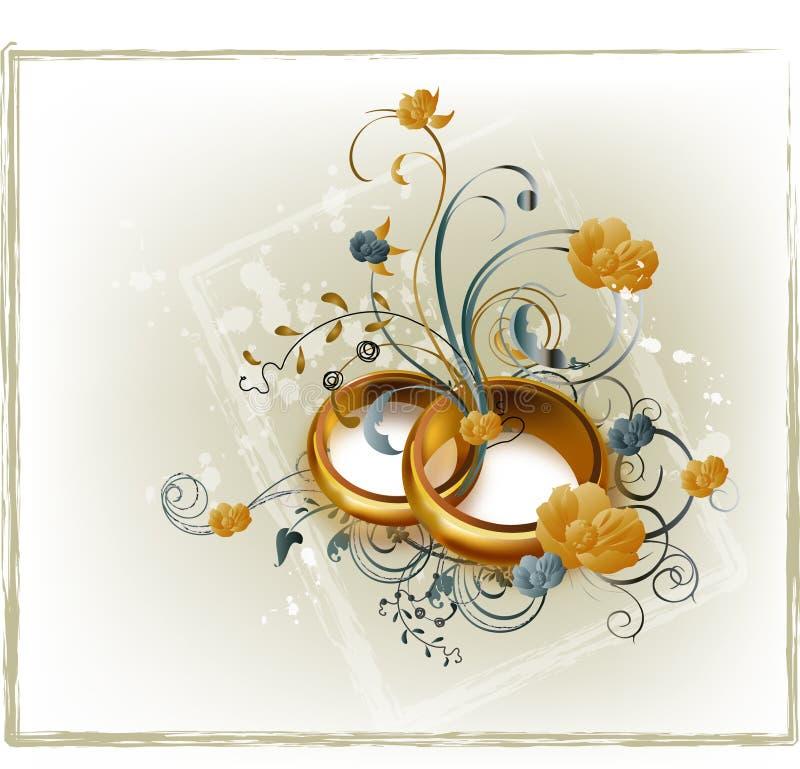 Hochzeitsringe lizenzfreie abbildung