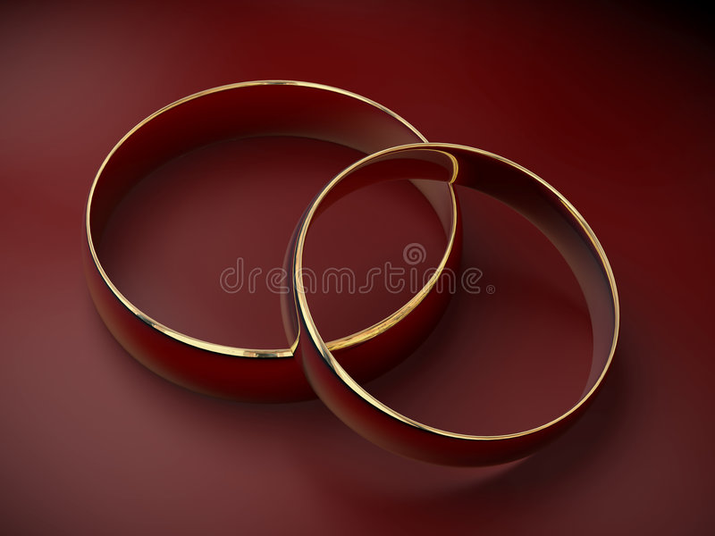 Hochzeitsringe 3D lizenzfreie abbildung