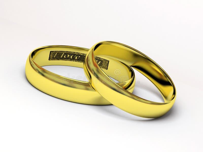Hochzeitsringe 3D stock abbildung