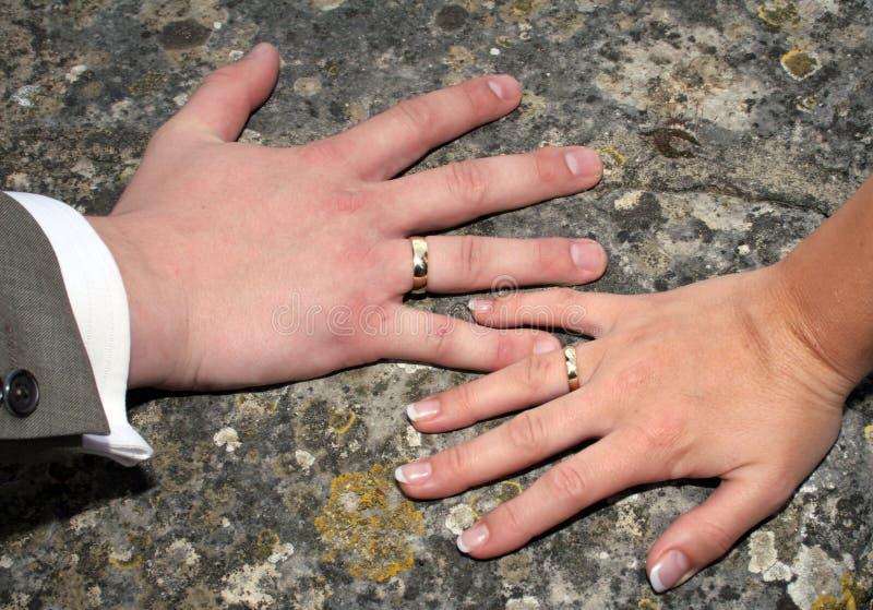 Download Hochzeitsringe stockbild. Bild von hände, rund, verpflichtung - 850939