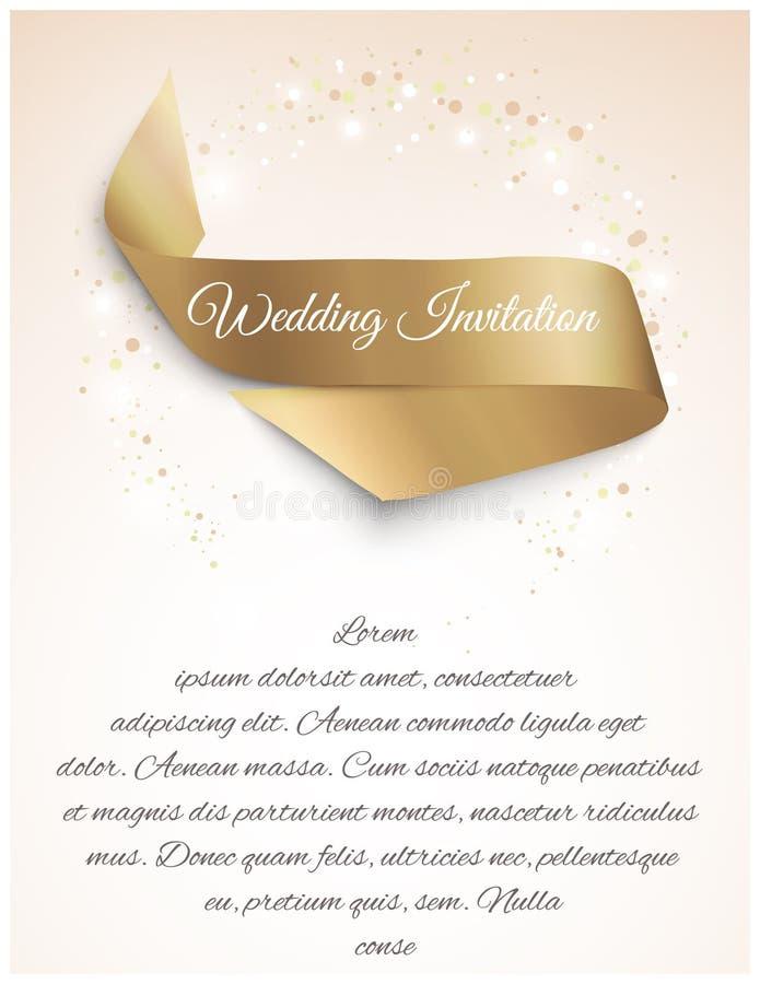 Hochzeitssatinband stock abbildung