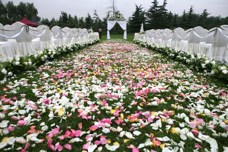 Hochzeitssite lizenzfreies stockfoto