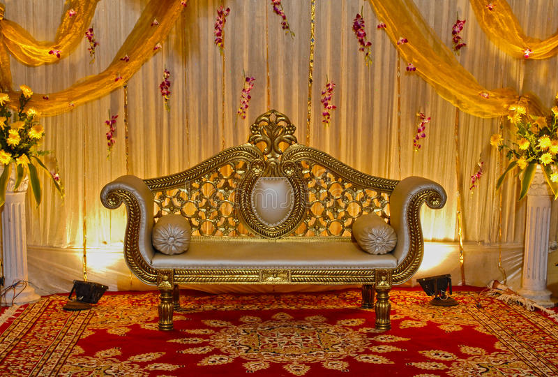Hochzeitsstadium stockfoto