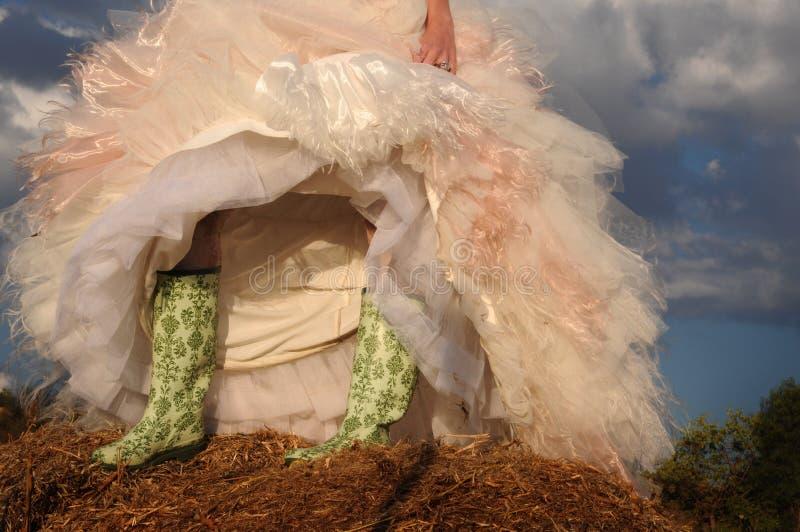 Hochzeitsstiefel lizenzfreies stockfoto