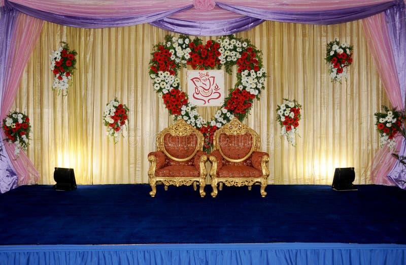 Hochzeitsstufe stockbild