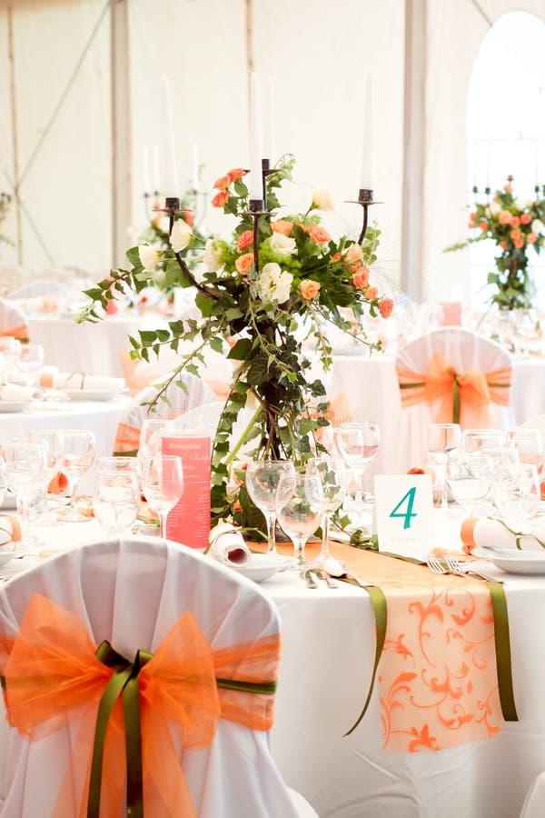 Hochzeitstabellen stockbilder
