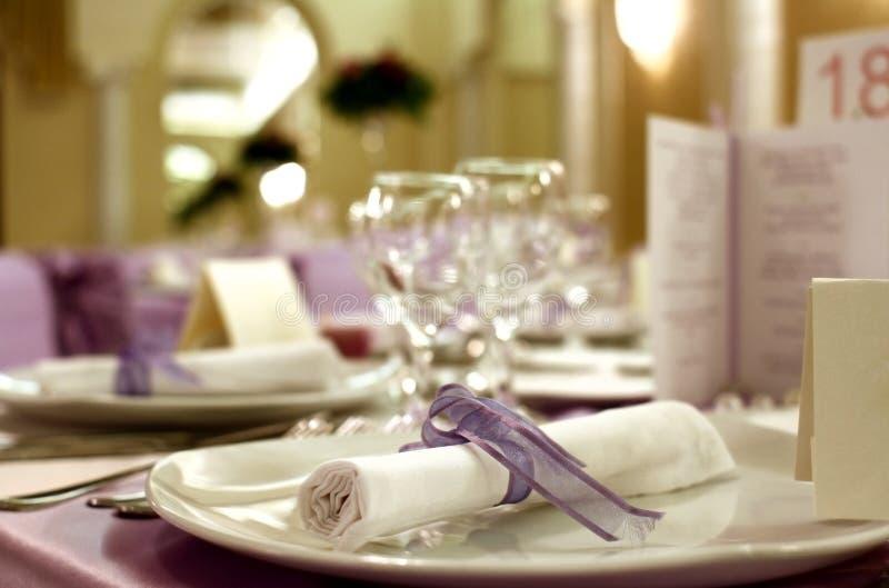 Hochzeitstabellenanordnung lizenzfreies stockfoto