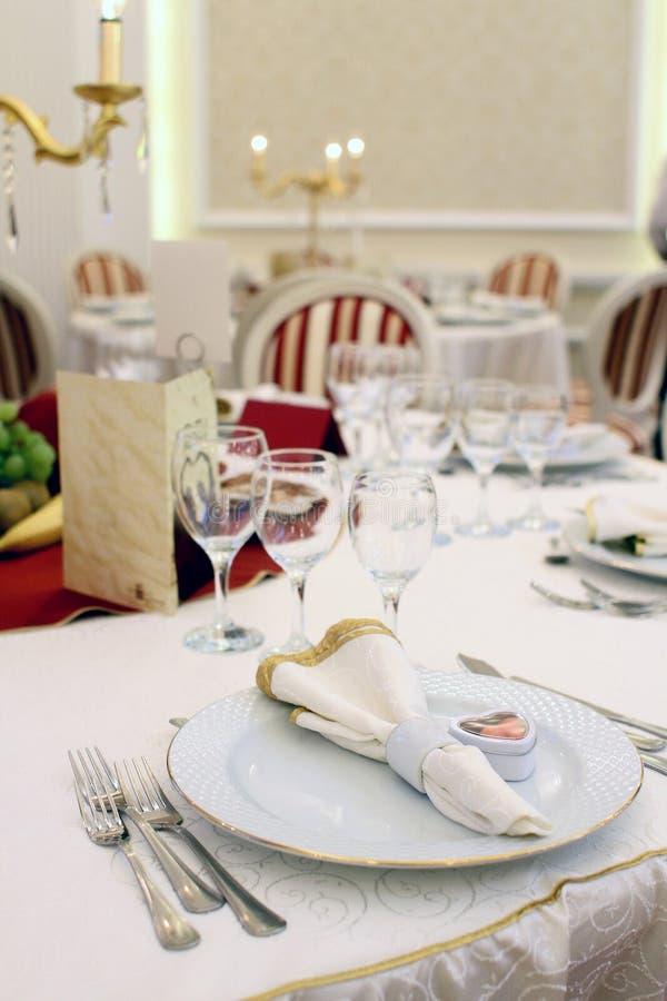 Hochzeitstabellendetails stockbilder