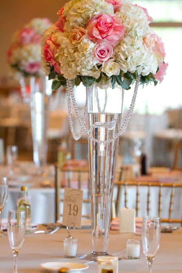 Hochzeitstafeldekor stockbild