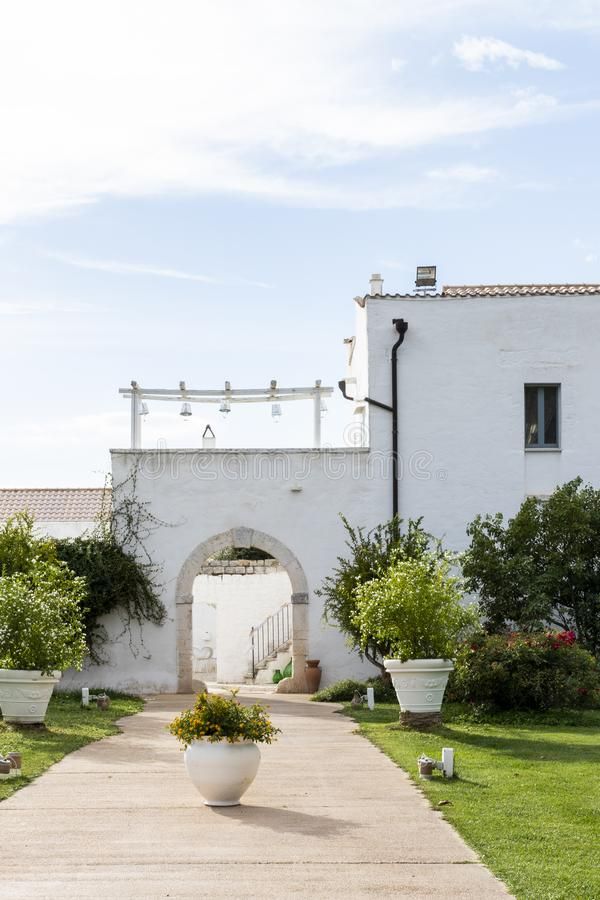 Hochzeitstag in Puglia stockfotografie