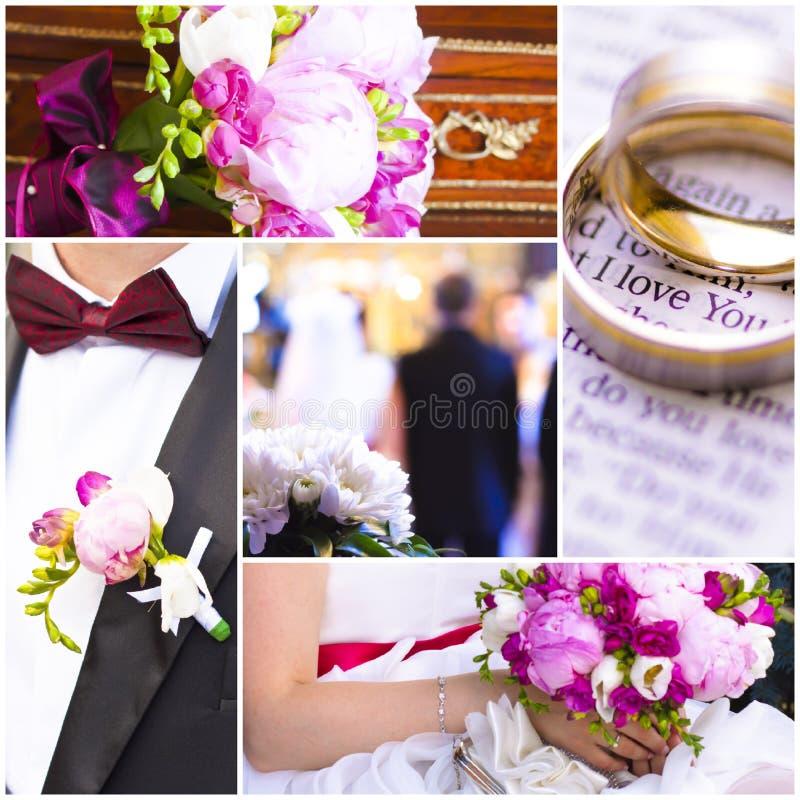 Hochzeitsthemabilder stockfotos