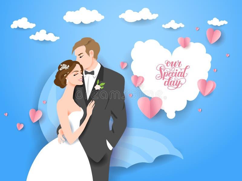Hochzeitsvektorpaare stock abbildung