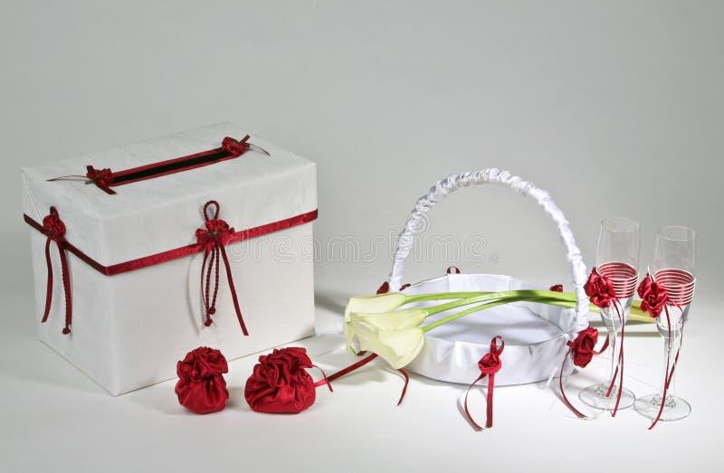 Hochzeitszubehör lizenzfreies stockfoto