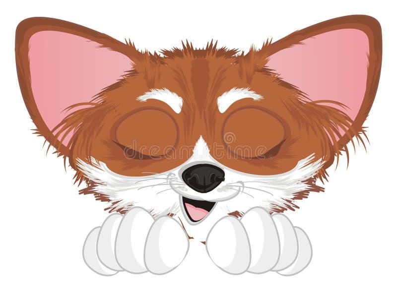 Hocico de la chihuahua con los ojos cerrados stock de ilustración