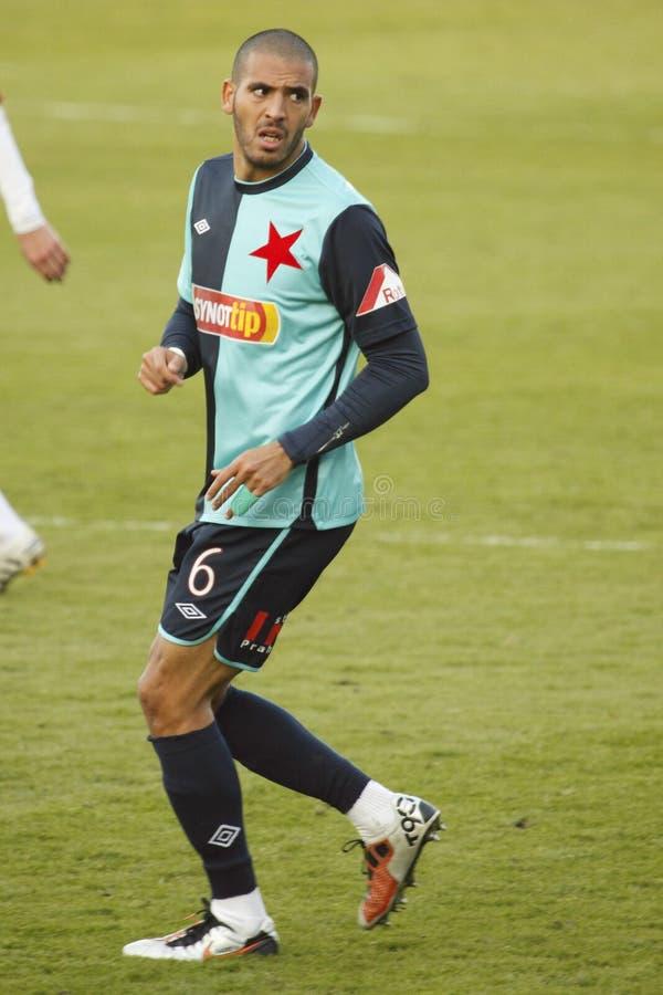 Hocine Rague - SK Slavia Praga imagem de stock