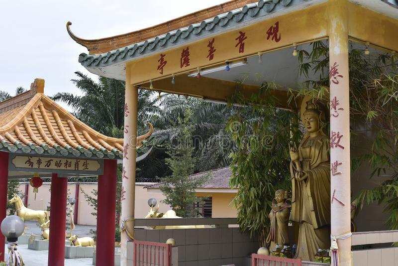 Hock visto Yeen, templo de Confucius, Chemor, Mal?sia imagens de stock