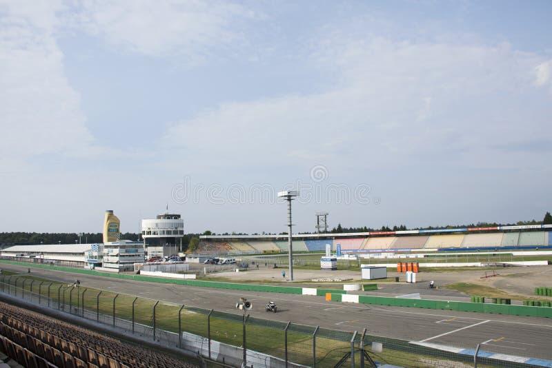 Hockenheimring, un corso di corsa del motore alla città di Hockenheim a Stuttgart, Germania fotografia stock libera da diritti