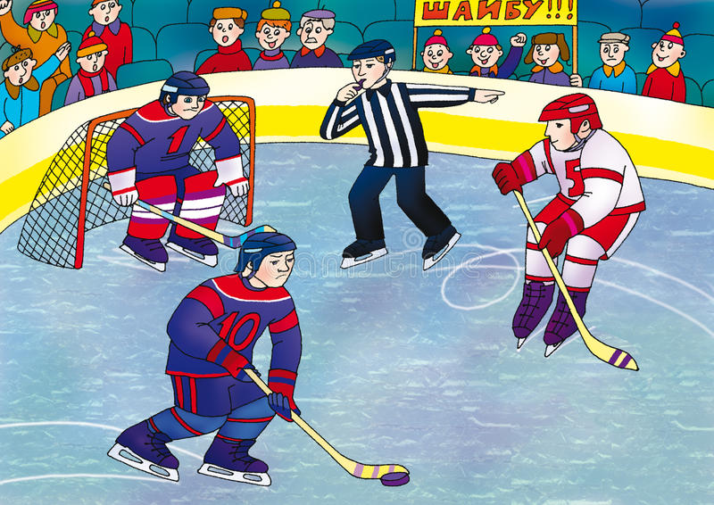 hockey royaltyfri illustrationer