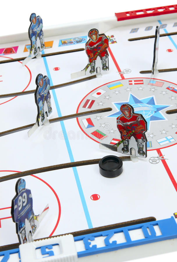 Hockey. Players on the ice field background royalty free stock photo